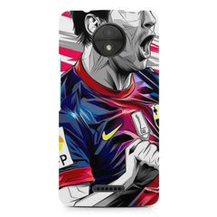 Messi illustration design,  Moto C  printed back cover