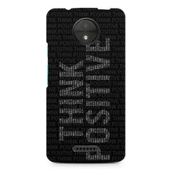 Think Positive - Motivational Start-Up Quotes design,  Moto C Plus  printed back cover