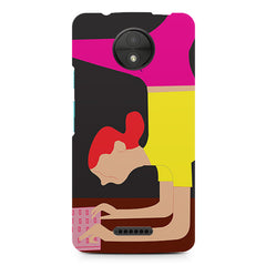Yoga Girl Moto C Plus printed back cover