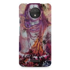 Shiva painted design Moto C Plus  printed back cover