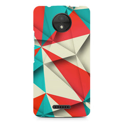 Brown and white textured  Moto C  printed back cover