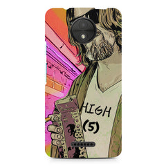 Being high with beard,Moto C printed back cover