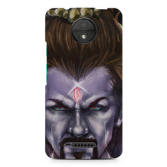 Shiva Anger  Moto C Plus  printed back cover
