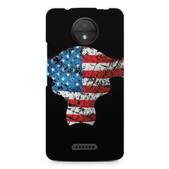 USA bull Moto C Plus printed back cover