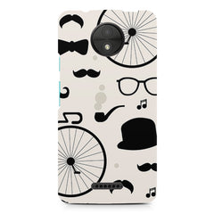 Black & white lifestyle Moto C printed back cover
