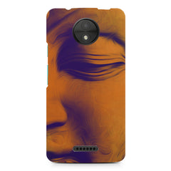 Peaceful Serene Lord Buddha Moto C  printed back cover