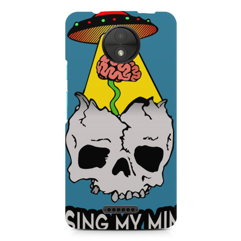 low priced 1638c 484ef Losing my mind funny design Moto C Plus printed back cover