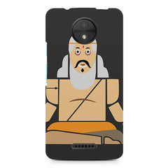 Yoga guru   design, Moto C Plus printed back cover