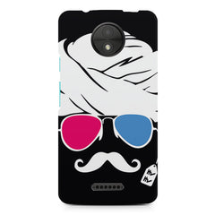 Turban moustache  design, Moto C Plus printed back cover