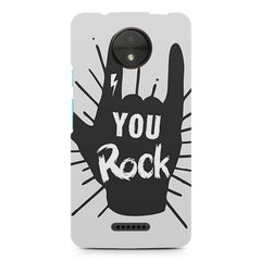 You rock  design, Moto C Plus printed back cover