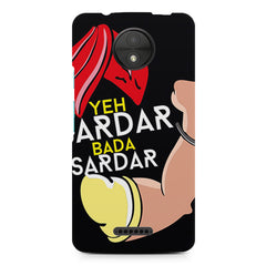 Yeh sardar bada asardar  design, Moto C Plus printed back cover