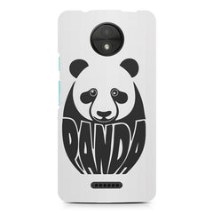 White Panda  design,  Moto C Plus  printed back cover
