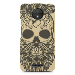 Voguish skull  design,  Moto C Plus  printed back cover