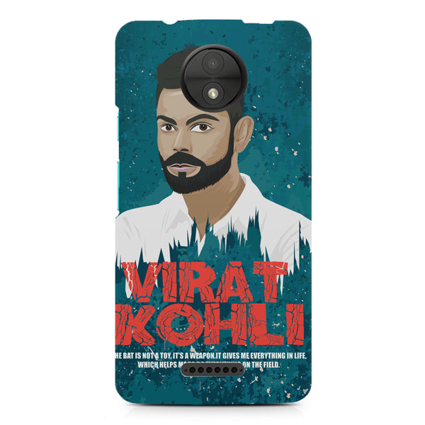 Virat Kohli Indian Cricket Team Captain Quote design,  Moto C  printed back cover