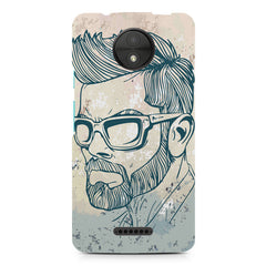 Virat Kohli Stylish Abstract Art design,  Moto C Plus  printed back cover