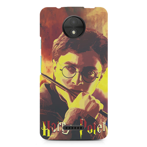 Harry Potter GryffindorAbstract Art design, Moto C printed back cover