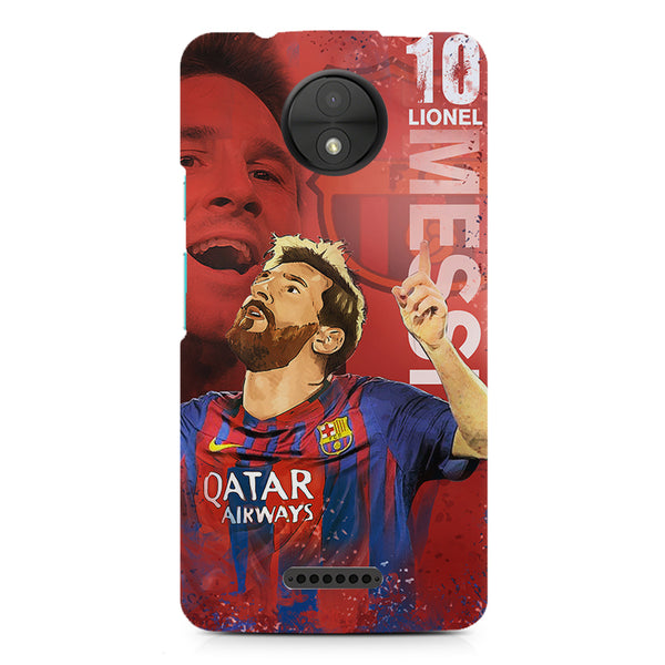 Lionel Messi Fan Art FCB 10 design,  Moto C  printed back cover