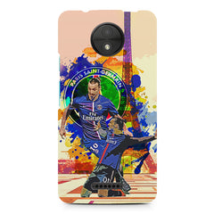 Zlatan Ibrahimovic Famous Footballer design,  Moto C Plus  printed back cover