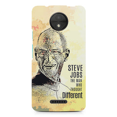 Steve Jobs Apple Art design,  Moto C  printed back cover