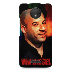 Vin Diesel Oil Painting Fanart design,  Moto C Plus  printed back cover