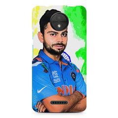 Virat Kohli Oil Painting India design,  Moto C Plus  printed back cover