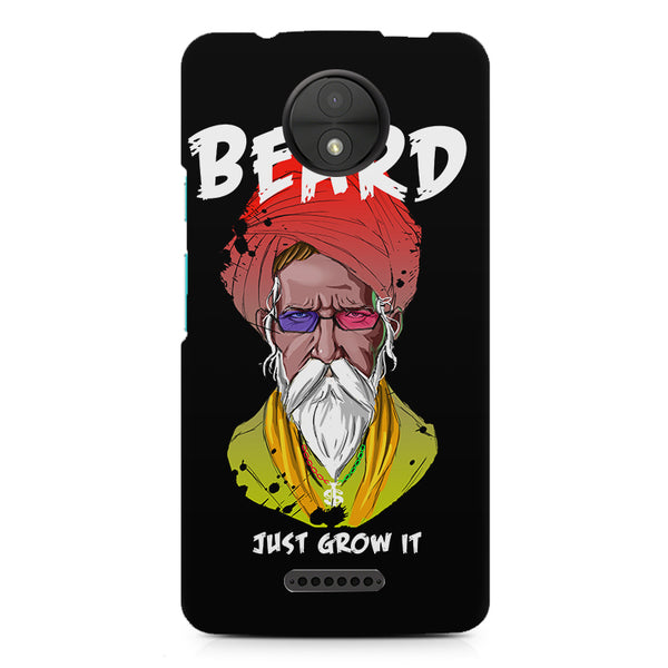 Beard Just Grow It design, Moto C printed back cover