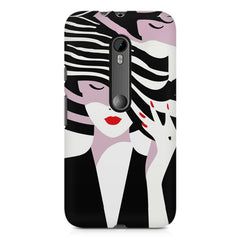 woman  design,  Moto G3 printed back cover