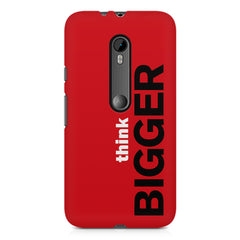 Think Bigger- For Entrepreneurs design,  Moto G3 printed back cover