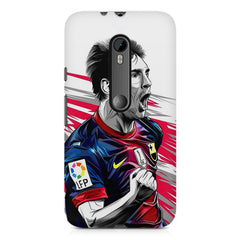 Messi illustration design,  Moto X play printed back cover
