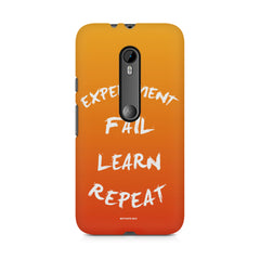 Experiment Fail Learn Repeat - Entrepreneur Quotes design,  Moto G3 printed back cover