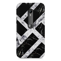 Black & white rectangular bars  Moto G3 printed back cover