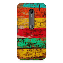 Strips of old painted woods  Moto G3 printed back cover