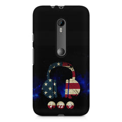 America tunes Blue sprayed  Moto G3 printed back cover