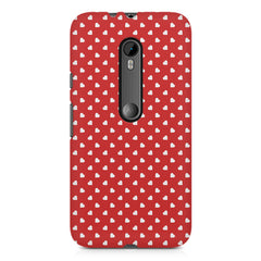 Cute hearts all over the cover design    Moto X Force hard plastic printed back cover