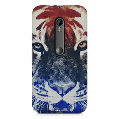 Pixel Tiger Design Moto X play hard plastic printed back cover