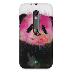 Polar Bear portrait design Moto X play hard plastic printed back cover