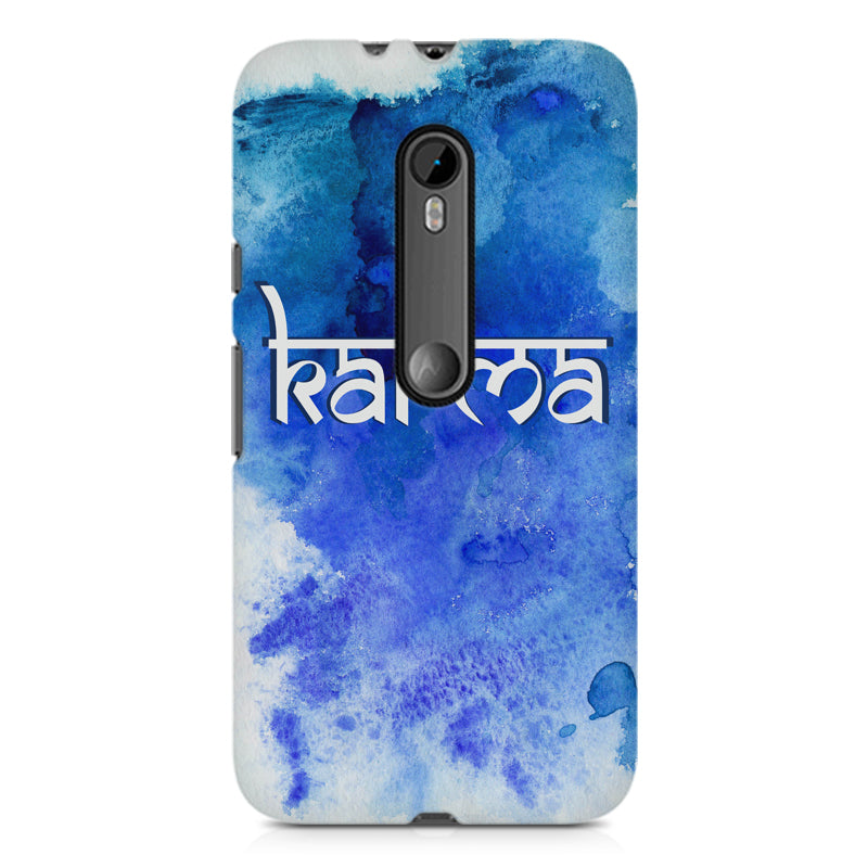 new style 6cc15 c4729 Karma Moto G3 hard plastic printed back cover
