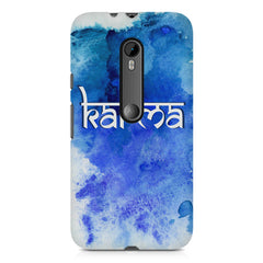 Karma Moto X play hard plastic printed back cover