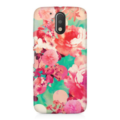 Floral  design,  Moto G4/G4 Plus printed back cover