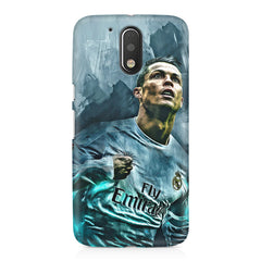 Oil painted ronaldo  design,  Moto G4 Play printed back cover
