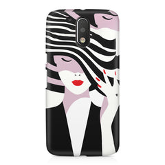 woman  design,  Moto G4/G4 Plus printed back cover