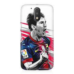 Messi illustration design,  Moto G4 Play printed back cover