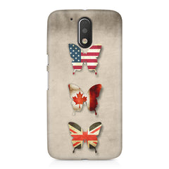 Butterfly in country flag colors Moto G4/G4 Plus printed back cover