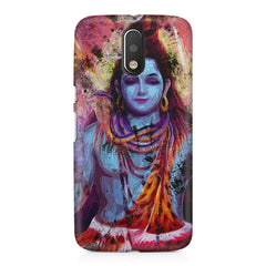 Shiva painted design Moto G4 Play printed back cover