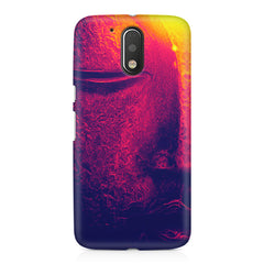 Half red face sculpture  Moto G4 Play printed back cover
