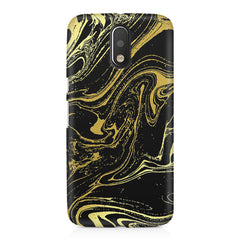 Golden black marble design Moto G4 Play printed back cover
