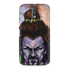 Shiva Anger  Moto G4/G4 Plus printed back cover