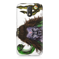 Shiva With Trishul  Moto G4/G4 Plus printed back cover