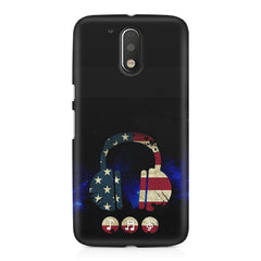 America tunes Blue sprayed  Moto G4/G4 Plus printed back cover