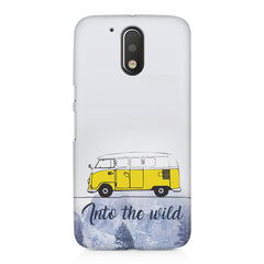 Into the wild for travel Wanderlust people Moto G4/G4 Plus printed back cover